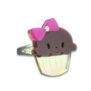 Miss Cupcake Chocolate Crystal Gold Ring (s)