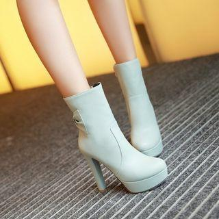 High Heel Platform Short Boots