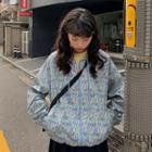 Hooded Floral Zip Jacket