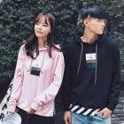 Couple Matching Print Hooded Pullover