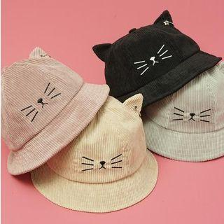 Cat Ear Embroidered Bucket Hat