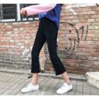 Front Slit Cropped Jeans