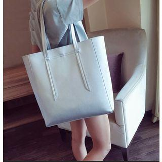 Set: Faux Leather Tote + Crossbody Bag