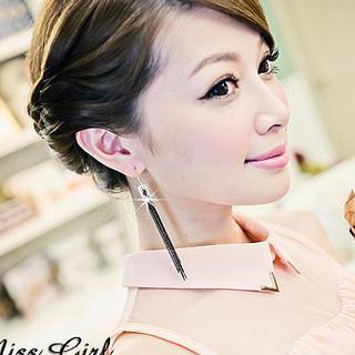 Rhinestone Tasseled Earrings