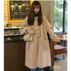 Long Hooded Buttoned Coat