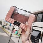 Transparent Quilted Chain Strap Crossbody Bag
