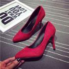 Suede Pointed High-heels