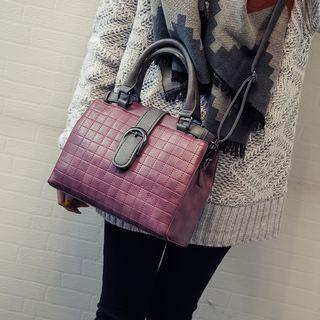Stitched Tote With Shoulder Strap