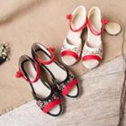 Embroidered Flower Wedge Sandals