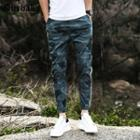 Letter Camouflage Jogger Pants
