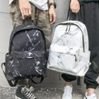 Marble Print Canvas Backpack