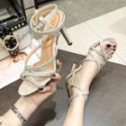 Ankle-strap High Heel Sandals