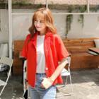 Short-sleeve Colored Jacket