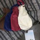 Drawstring Corduroy Bucket Bag