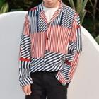 Contrast Color Striped Shirt