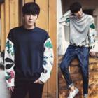 Printed Sleeve Pullover