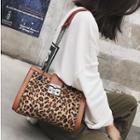 Quilted Leopard Print Shoulder Bag