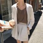 Plain Camisole Top / Blazer / Shorts