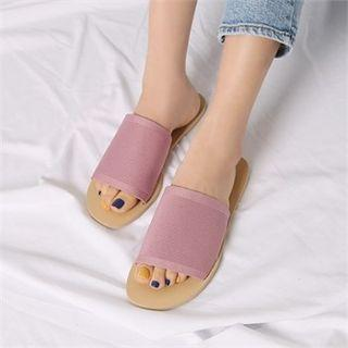 Knit-strap Slippers