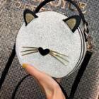 Glitter Cat Round Crossbody Bag