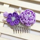 Set Of 2: Flower Hair Comb + Hair Clip
