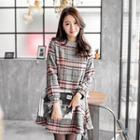Houndstooth Plaid Tweed Dress