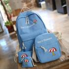 Set: Canvas Backpack + Cross Bag + Pouch + Drawstring Pouch