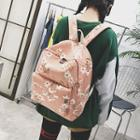 Floral Printed Backpack