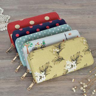 Printed Canvas Wallet