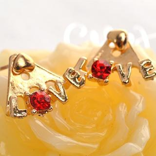Love Earrings  Gold - One Size