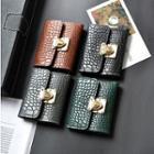 Faux-leather Croc Grain Wallet