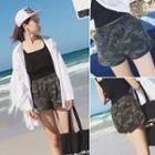 Camouflage Band Waist Shorts