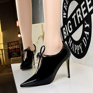 Cut-out Pointed High Heel Pumps