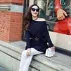 Boatneck Knit Long Top