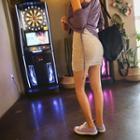 Shirred Mini Tube Skirt