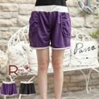 Color-block Piped Shorts