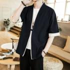 Elbow-sleeve Frog Button Jacket