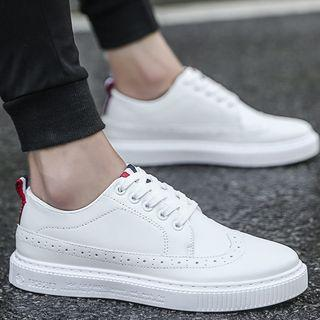 Lace-up Wingtip Sneakers