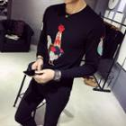 Rooster Embroidered Long-sleeve T-shirt