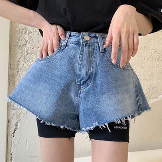 Wide-leg Denim Shorts / Biker Shorts