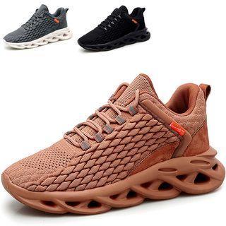 Knit Platform Sneakers