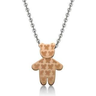 Ip Rose Gold Butterfly Kenny Bear Pendant With Necklace Ip Rose Gold - One Size