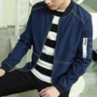 Slim-fit Bomber Jacket / Hooded Zip Jacket