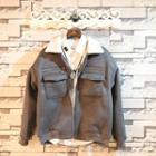 Fleece-lining Zip-detail Jacket
