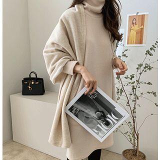 Wool Blend Shawl Scarf One Size