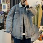 Fleece-lined Demin Jacket