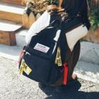 Applique Bow Canvas Backpack