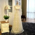 Lace-panel Mini Prom Dress