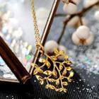 925 Sterling Silver Leaf Necklace