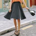 Plain Ruffle Midi Skirt